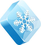Vector ice button Stock Images