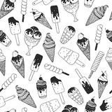 Vector ice cream background Royalty Free Stock Images