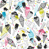 Vector ice cream background Royalty Free Stock Image