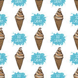Vector ice cream background Stock Photos