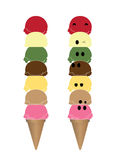 Vector of ice cream cone Stock Photos
