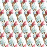 Vector Ice cream cones colorful pattern Stock Photo