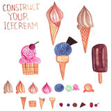 Vector  Ice Cream Constructor Stock Photo