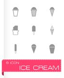 Vector ice cream icon set Royalty Free Stock Photos