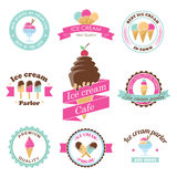 Vector ice cream labels Royalty Free Stock Photos