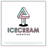 Vector Ice Cream Logo Royalty Free Stock Images