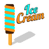 Vector ice cream roll stock illustration