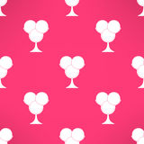 Vector ice cream seamless pattern in modern flat Stock Images