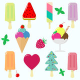 Vector ice cream set. vector illustration
