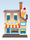 Vector ice cream store Royalty Free Stock Photos