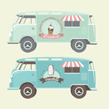 Vector ice cream truck. Royalty Free Stock Photo