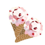 Vector Ice cream waffle cones Isolated Stock Photography