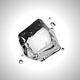 Vector Ice cube. EPS10. Royalty Free Stock Photo