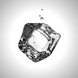 Vector Ice cube. EPS10. Royalty Free Stock Photos