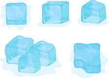 Vector ice-cubes on white background Royalty Free Stock Photography