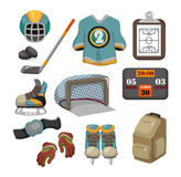 Vector ice hockey icon set Royalty Free Stock Photos