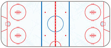 Vector Ice Hockey Rink With Skate Marks. A realistic ice hockey rink with hatched skate marks. EPS 10. File contains transparencies Royalty Free Stock Photography