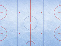 Vector of ice hockey rink. Textures blue ice. Ice rink. Vector illustration background. Royalty Free Stock Photography