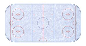 Vector of ice hockey rink. Textures blue ice. Ice rink. top view. Vector illustration background. Vector of ice hockey rink. Textures blue ice. Ice rink. top royalty free illustration