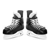 Vector ice hockey skates, isolated on white. Royalty Free Stock Photos