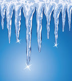 Vector icicles Royalty Free Stock Photography