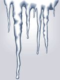 Vector icicles. Blue vertical icicles on blue background Royalty Free Stock Image