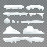 Vector icicles and snowcap elements vector illustration