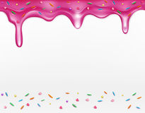 Vector icing with sprinkles (element for design) Royalty Free Stock Photo