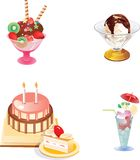 Vector icon. Vector image with food icons Royalty Free Stock Photos