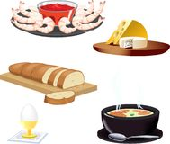 Vector icon. Vector image with food icons Royalty Free Stock Image