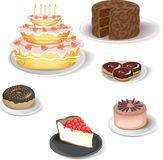 Vector icon. Vector image with food icons Stock Photo