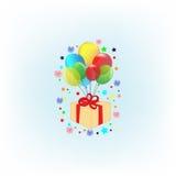 Vector icon air ballon. Vector illustration modern icon  air ballon on background transparency Royalty Free Stock Image