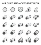 Air Duct Icon. Vector icon of air duct pipe fitting for air conditioner and HVAC system Royalty Free Stock Image