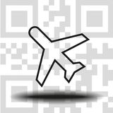 Vector icon airplane royalty free stock photos