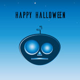 Vector icon Alien pumpkin Halloween Stock Images
