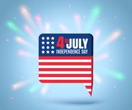 Independence day at 4 th july. Vector icon with american flag for independence day at 4 th july. Independence day at 4 th july vector illustration