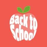 Vector icon. Apple, Back to School. Stock Photos