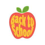 Vector icon. Apple, Back to School. Royalty Free Stock Images