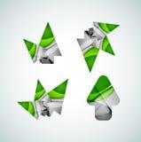 Vector icon, arrow mouse pointer or directional symbol. Geometric abstract design Stock Photos