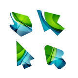 Vector icon, arrow mouse pointer or directional symbol. Geometric abstract design Stock Image