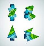 Vector icon, arrow mouse pointer or directional symbol. Geometric abstract design Stock Photo