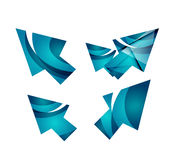 Vector icon, arrow mouse pointer or directional symbol. Geometric abstract design Royalty Free Stock Photography