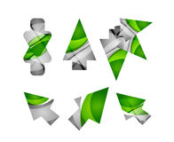 Vector icon, arrow mouse pointer or directional symbol. Geometric abstract design Royalty Free Stock Image