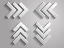 Vector icon of arrows illustration Royalty Free Stock Image