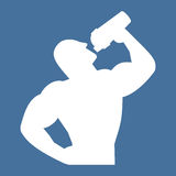 Vector icon of an athlete holding a shaker Stock Images