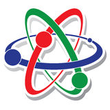 Vector icon of atom Royalty Free Stock Images