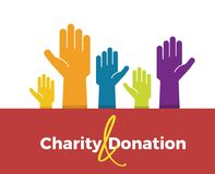 Vector icon background design for charity, donation, fundraising and volunteering subjects. royalty free illustration