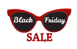 Vector icon badge Black Friday sale. Sunglasses, Black Friday Stock Photography