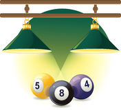 Vector icon of billiard Stock Images