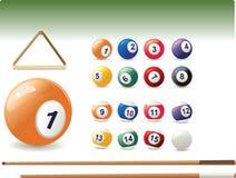 Vector icon of billiard Royalty Free Stock Photos